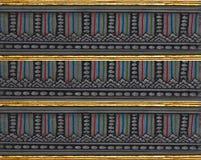 Pittura tailandese tradizionale di arte di stile sul tempiale Immagini Stock
