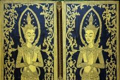 Pittura tailandese tradizionale di stile Immagine Stock