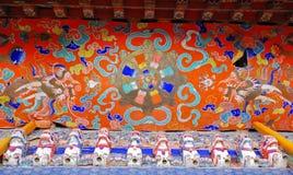 Pittura tibetana del soffitto Fotografie Stock