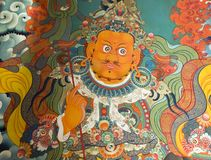 Pittura tibetana in Jokhang Fotografia Stock