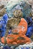 Pittura tibetana sulla roccia Immagine Stock Libera da Diritti