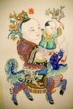 Pittura tradizionale cinese Fotografie Stock Libere da Diritti