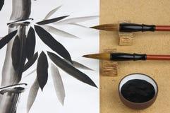 Pittura tradizionale cinese Fotografia Stock Libera da Diritti
