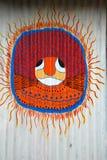 Pittura tribale astratta Fotografie Stock Libere da Diritti