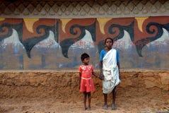 Pittura tribale in India Immagini Stock
