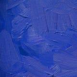 Pittura ultramarine blu astratta dall'olio su tela, illustratio Fotografia Stock