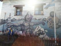 Pittura in usuahia la Terra del Fuoco della parete Fotografia Stock