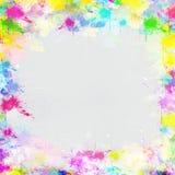 Pittura variopinta del blocco per grafici sul documento Fotografia Stock