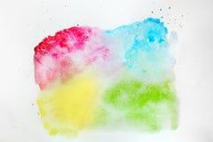 Pittura variopinta dell'acquerello su tela bianca Alta risoluzione e qualità eccellenti illustrazione vettoriale