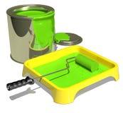 Pittura verde Fotografia Stock