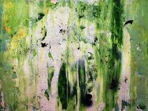 Pittura verde astratta Fotografia Stock Libera da Diritti