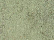 Pittura verde chiaro incrinata Immagini Stock