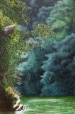 Pittura verticale di un fiume Fotografie Stock Libere da Diritti
