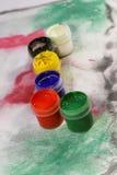Pitture acriliche Fotografia Stock Libera da Diritti