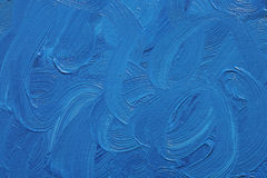 Pitture ad olio blu Immagine Stock Libera da Diritti