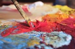 Pitture ad olio mescolantesi immagine stock libera da diritti