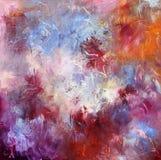 Pitture ad olio su tela di canapa Fotografie Stock Libere da Diritti