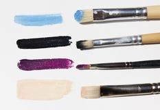 Pitture ad olio sulla tavolozza Fotografia Stock