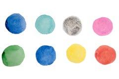 Pitture astratte della mano di arte dell'acquerello Fotografia Stock