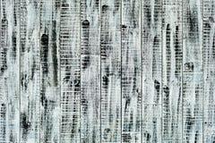 Pitture in bianco e nero dipinte parete di legno Fotografia Stock