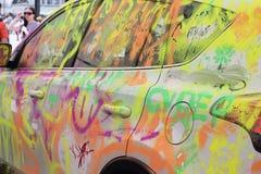 Pitture colorate automobile Fotografia Stock Libera da Diritti