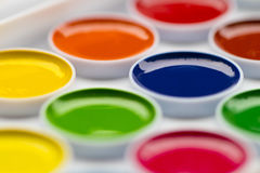 Pitture colorate dell'acquerello per elaborare un grande immagine stock libera da diritti