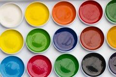 Pitture colorate dell'acquerello per elaborare un grande immagini stock