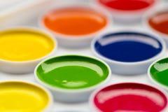 Pitture colorate dell'acquerello per elaborare un grande immagini stock libere da diritti