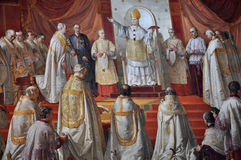 Pitture da Raphael in Raphael Rooms Il Vaticano, Italia Fotografia Stock Libera da Diritti