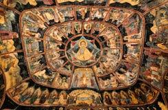 Pitture del monastero di Sinaia, Romania Fotografia Stock