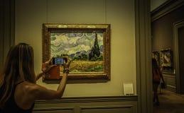 Pitture del ` s di Van Gogh del pittore nel museo di arte metropolitano Immagine Stock