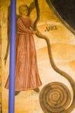 Pitture dell'icona nell'interiore del monastero Fotografie Stock