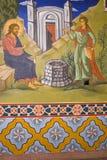 Pitture dell'icona nell'interiore del monastero Fotografia Stock