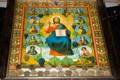 Pitture dell'icona nell'interiore del monastero Fotografia Stock Libera da Diritti