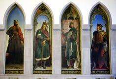Pitture dell'imperatore Corridoio nel Römer a Francoforte immagine stock libera da diritti