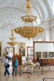 Pitture dell'orologio degli ospiti in eremo, StPetersburg Fotografia Stock