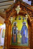 Pitture della chiesa greca Fotografia Stock