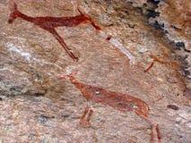 Pitture della roccia Fotografie Stock