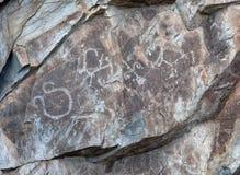 Pitture della roccia Immagine Stock
