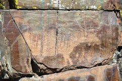 Pitture della roccia del toro immagine stock libera da diritti