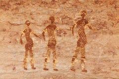 Pitture della roccia di Tassili N'Ajjer, Algeria immagine stock