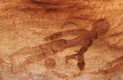 Pitture della roccia di Tassili N'Ajjer, Algeria fotografie stock