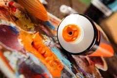 Pitture di acrilici di Aristic Immagine Stock