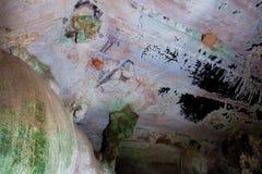 Pitture di caverna preistoriche in 3000 anni Fotografia Stock Libera da Diritti