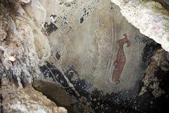 Pitture di caverna preistoriche in 3000 anni Immagini Stock Libere da Diritti