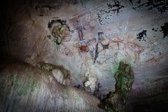 Pitture di caverna preistoriche in 3000 anni Immagini Stock