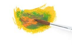 Pitture di colore e della spazzola immagine stock