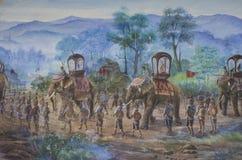 Pitture di parete del campo di battaglia Immagini Stock