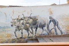 Pitture di parete nel Palau sulla Sardegna Fotografie Stock Libere da Diritti