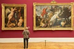 Pitture di Paul Rubens al Alte Pinakothek - Monaco di Baviera, Germania Immagine Stock